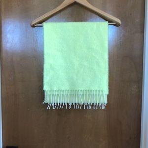 Jcrew neon wool scarf